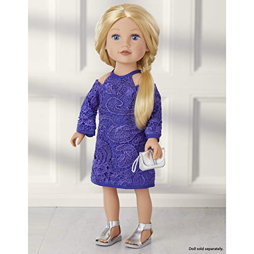 "Journey Girls 18"" Doll Fashion Set Blue Lace Dress - Amazon Exclusive"
