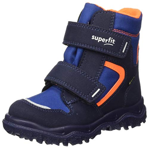 Superfit Jungen Husky1 Schneestiefel, Blau Orange 8010, 26 EU