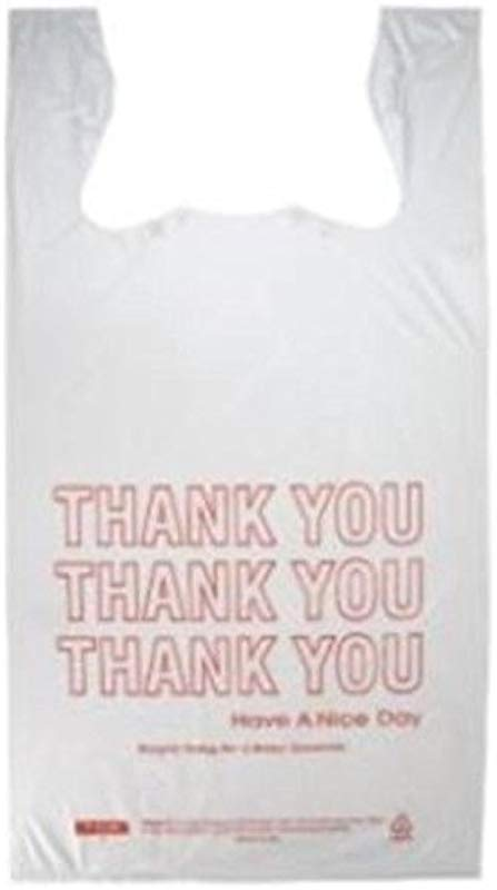 Prime Plastics Small T Shirt Hdpe Thank You Plastic Shopping Grocery Bags 8 X 4 X 16 1000 Cs Pack Of 1000