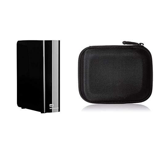WD 8 TB Elements Desktop External Hard Drive - USB 3.0 & Amazon Basics Hard Black Carrying Case for My Passport Essential