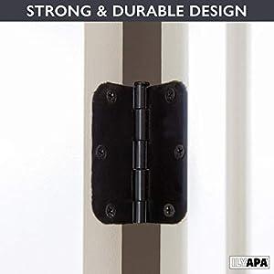 18 Pack of Door Hinges Oil Rubbed Bronze - 3.5 x 3.5 Inch Interior Hinges for Doors with 5/8 Inch Radius Corners