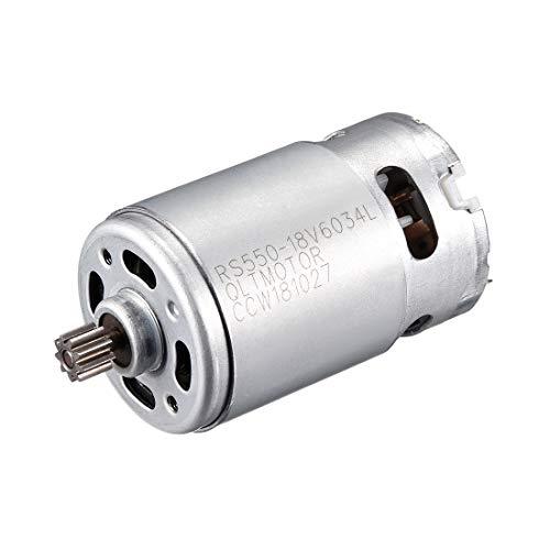 sourcing map Motor de engranaje eléctrico de CC 18v 19500 rpm 9...