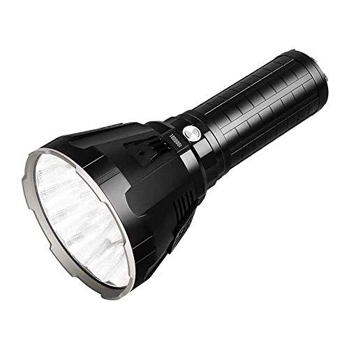 HANHANDIAN Powerful Super Bright Large Flashlight Rechargeable ,Portable Spot Lights Handheld 10000 Lumen 1350mAh Waterproof Outdoor Battery Powered Searchlight Marine Boat Light