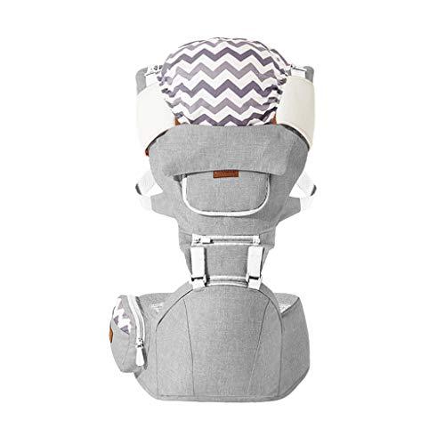 Porte-bébé Multifonction Tabouret épaules et Taille pour bébé Banc Respirant des Quatre Saisons, Design de fenêtre de Poche ( Color : B )