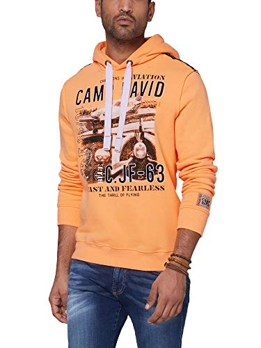 Camp David Herren Hoodie mit Photoprint und Stickereien