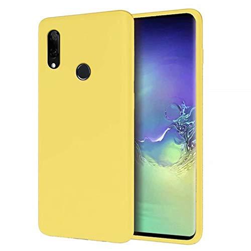 CRABOT Compatibile con Huawei P Smart Z 2019/Y9 Prime 2019 Custodia Silicone Liquido Paraurti In Gomma Gel Slim Antiurto Protettiva Caso+1*(Proteggi Schermo Gratuito)-Giallo