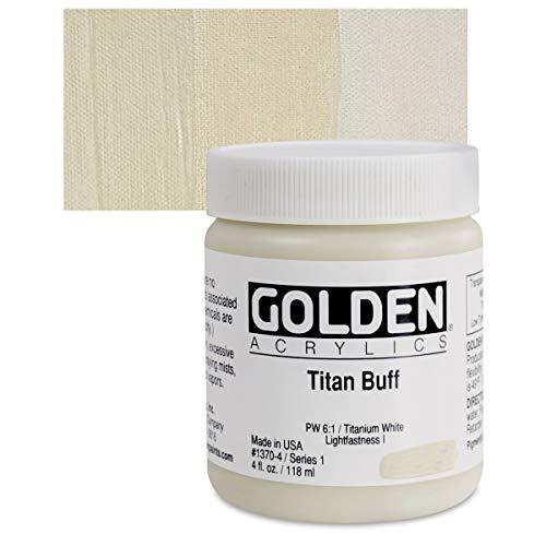 Golden Artist Acrylic, 4 Ounce jar, Titan Buff (1370-4)