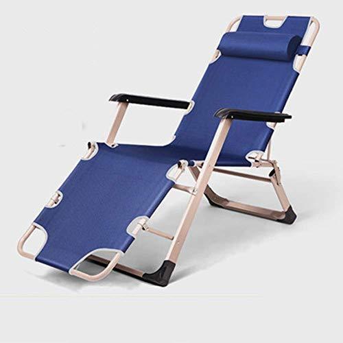 Lit rembourré épais Fauteuil inclinable Relaxant Zero Gravity Inclinable Garden Sun Lounger Chair