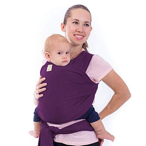 Baby Wrap Carrier All-in-1 Stretchy Baby Wraps - Baby Sling - Infant Carrier - Babys Wrap - Hands Free Babies Carrier Wraps - Baby Shower Gift (Royal Purple)