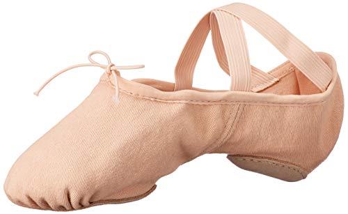 Bloch Dance Women's Zenith Split Sole Stretch Canvas Ballet Shoe/Slipper, Pink, 6.5 Wide
