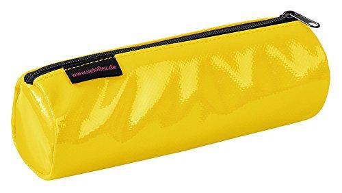 Veloflex 7100310 Faulenzer-Etui VELOCOLOR, aus LKW-Plane, Feder-Tasche, Feder-Mappe, Format 220x65 mm, gelb