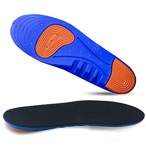 Foucosy Sport Insoles Knee Pain Relief Orthotics    All-Day Shock Absorption That Reduce Plantar Fasciitis and Increase Comfort Suitable for Any Shoe(for Men s Size 7-11)