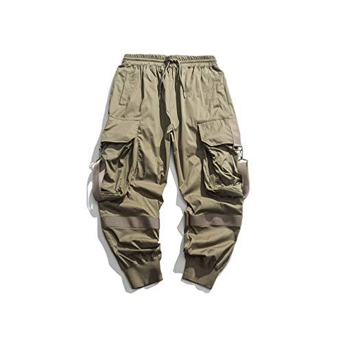 Streetwear Joggers Hip Hop Pantalones Negros Harem Pantalones Hombre Techwear Ropa Coreana Hombres Ropa Army Green XL