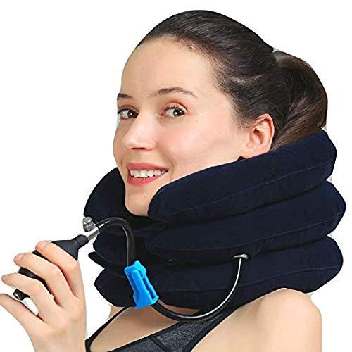 Tracción cervical, dispositivo de tracción cervical, almohada hinchable, relaxación del cuello, corrección del cuello civil de apoyo cervical