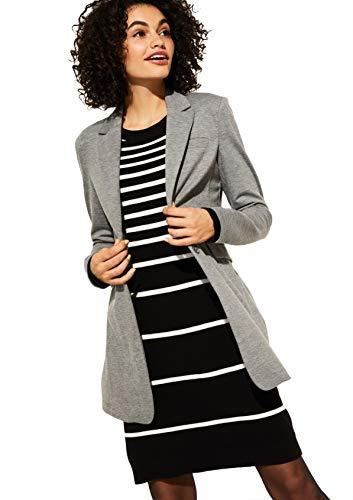 comma casual identity Damen Longblazer aus Jersey light grey melange 40