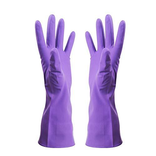 Wangzhi Super-elastische Handschuhe aus Nitrilkautschuk zum Waschen und Waschen, Nitril, Lila Schlamm, M