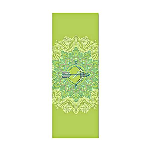 WANGCAI Esterilla de yoga para principiantes, para baile, fitness, yoga, PVC, serie Constellation, antideslizante, color verde
