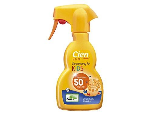 Protector solar en spray de Cien Sun, para niños, FPS 50, sin perfumes, resistente al...