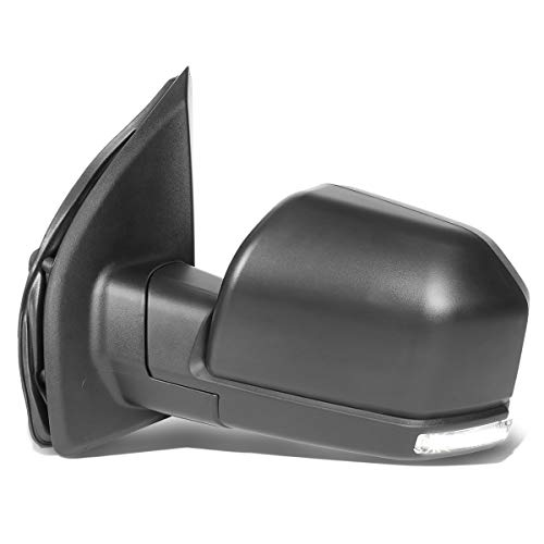 Left Driver Side Power Heated LED Turn Signal Mirror with Puddle Light Replacement for Ford F-150 15-18 (22-Pins)