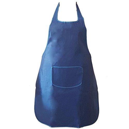 Outleticimo® schort BlLU voor keuken met tas en omhangband