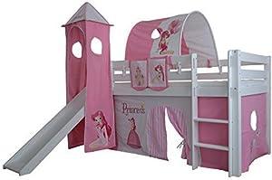 XXL Discount Rideau 3 pièces 100% Coton avec Bande Velcro pour lit Mezzanine Lit superposé Lit superposé Lit d'enfant