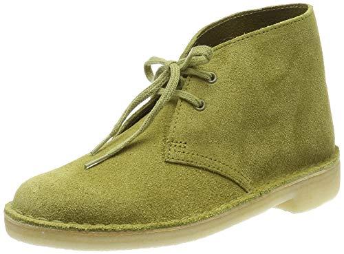 Clarks Originals, Desert boots femme, Vert (Khaki Suede...