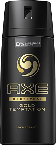 Axe Deospray Gold Temptation ohne Aluminium, 6er Pack (6 x 150 ml)