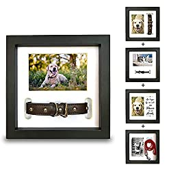 Pet Memorial Shadow Box Picture Frame, 4 frames shown.
