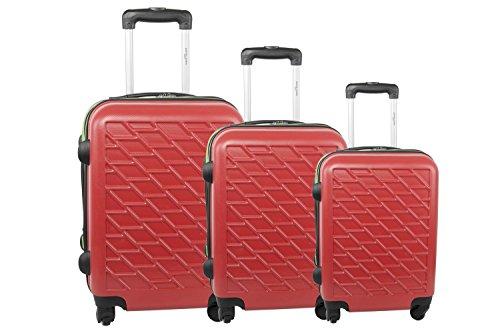 Set valigie trolley 3 pezzi rigido PIERRE CARDIN viola