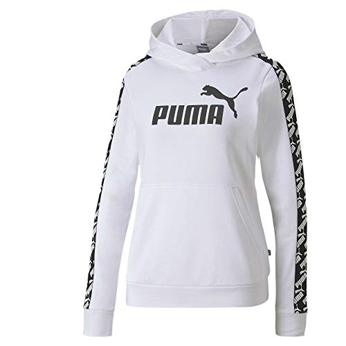 PUMA Damen Amplified Hoody TR Pullover, White, L