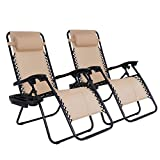 SUPER DEAL Set of 2 Reclining Lounge Chair Adjustable Zero Gravity...
