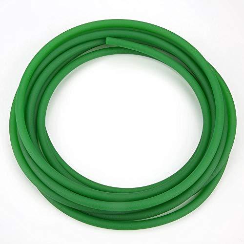 Correas redondas de uretano de alto rendimiento, correa de transmisión de PU Correa redonda de poliuretano para transmisión Transmisión verde(8mm*5m)