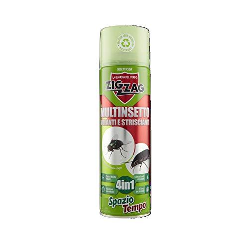 Zig Zag, Spaziotempo, Insetticida Multinsetto Spray per insetti striscianti e volanti, agisce istantaneamente, formato 500 ml