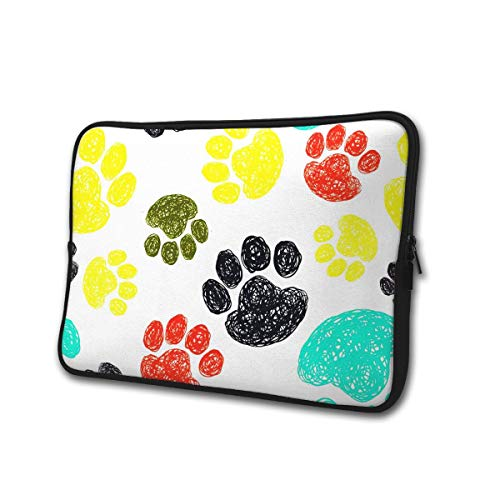 Gekleurde Paw 13-15 Inch Laptop/Tablet Sleeve Schokbestendig Neopreen Sleeve Bag voor Notebook Chromebook, Ultrabook, MacBook