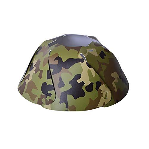 WWWL Pantalla para lámpara de camping, cubierta de PVC para lámpara de campaña, con forma de cono, diseño de camuflaje, para decoración del hogar