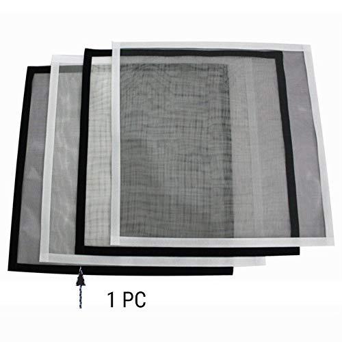 DM&FC Einstellbare DIY Fliegengitter Fenster, Klettband ohne Bohren, Anti Insektenfliege Selbst-klebstoff Mesh Curtain Voller Rahmen Demontage Waschbar Weiß 120x180cm/47x71inch