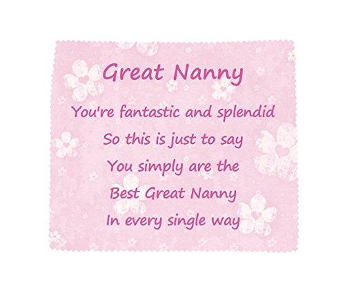 Prachtige NANNY 'You are the best' zachte microvezel schoonmaak doek nieuwigheid familie cadeau