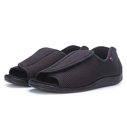 SZFGYJ Zapatos Mujer De Los Hombres Diabéticos De Edad Avanzada, Hinchado Pie Calzado Ajustable Edema Zapatos De Las Señoras Extra Ancho Ortopédicos Confort Edema Sandalias,43