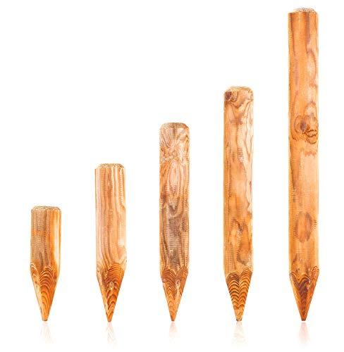 BooGardi Runde Baumpfähle Holzpalisaden · 39 Größen · ø 10cm, Länge: 50cm · Palisaden Holz als Beeteinfassung, Beetumrandung und Rasenkante