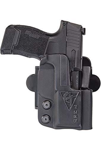 COMP-TAC.COM International Holster Compatible with Glock - 40 - Right - Black (Belt, Paddle, Drop Offset)