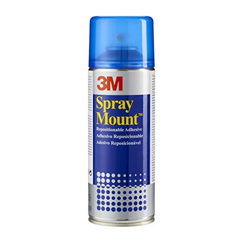 3M SprayMount Permanent Spray Adhesive, 1 Can 400 ml, Ideal for mock-ups, presentations, school projects, display boards