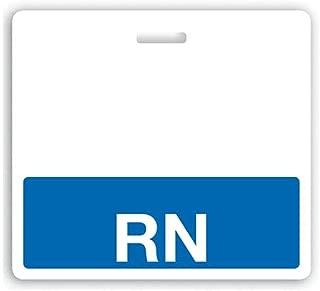 RN Registered Nurse Horizontal Hospital ID Badge Buddy - Blue