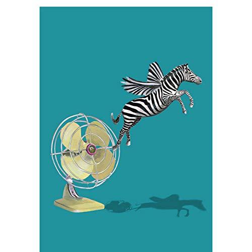 Waofe Pre-Sale Malen Nach Zahlen Malen Nach Zahlen Für Wohnkultur Bild Ölgemälde Für Wohnzimmer Fliegen Zebra No Frame
