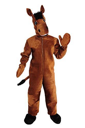 Pferd braun Einheitsgrösse M Kostüm Fasching Karneval Maskottchen