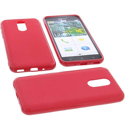 foto-kontor Hülle für Emporia Smart 3 Tasche Gummi TPU Schutz Handytasche rot