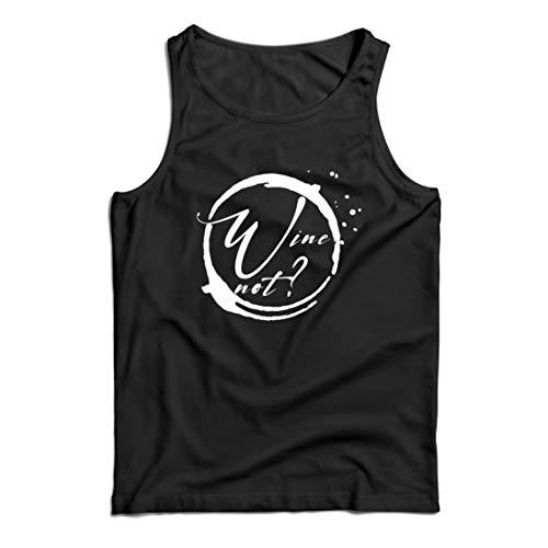 lepni.me Camisetas de Tirantes para Hombre Vino No Amante del Alcohol Ingenioso Cita de Broma de Beber (Large Negro Multicolor)