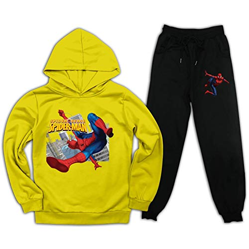 Spider Hero Kids Sweatshirt Tracksuits and Sweatpants Set Pullover Hoodie Suit 2 Piece Hooded Outfit for Boys Girls
