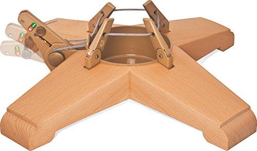 Krinner Christbaumständer Vario Tölz – Baumhöhe bis 2,50 m, Stammdurchmesser 12 cm, Buche – Massivholz – 95010