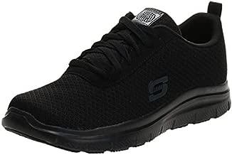 Skechers mens Flex Advantage Sr - Bendon Work Shoe, Black Mesh/Water/Stain Repellent Treatment, 9 Wide US