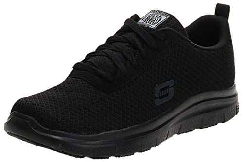 Skechers Work Flex Advantage SR - Bendon Black Mesh/Water/Stain Repellent Treatment 9.5